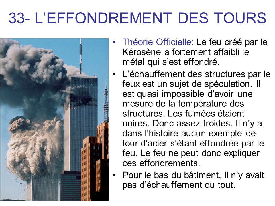 33- L'EFFONDREMENT DES TOURS