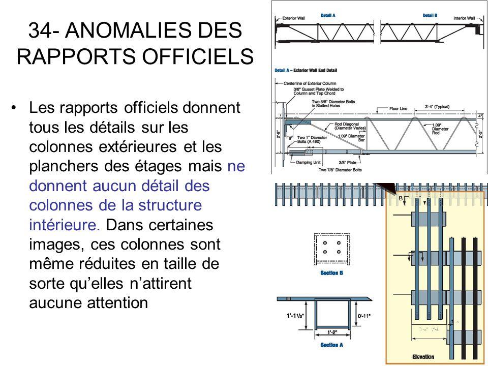 34- ANOMALIES DES RAPPORTS OFFICIELS