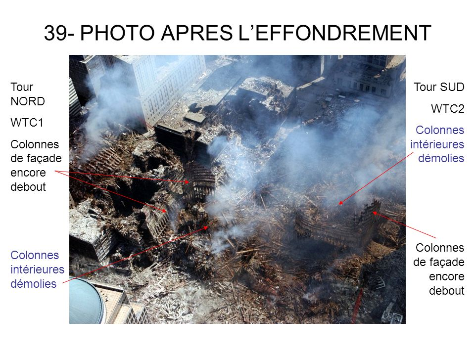 39- PHOTO APRES L'EFFONDREMENT
