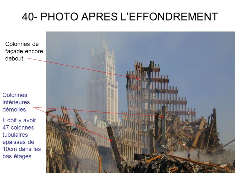 40- PHOTO APRES L'EFFONDREMENT