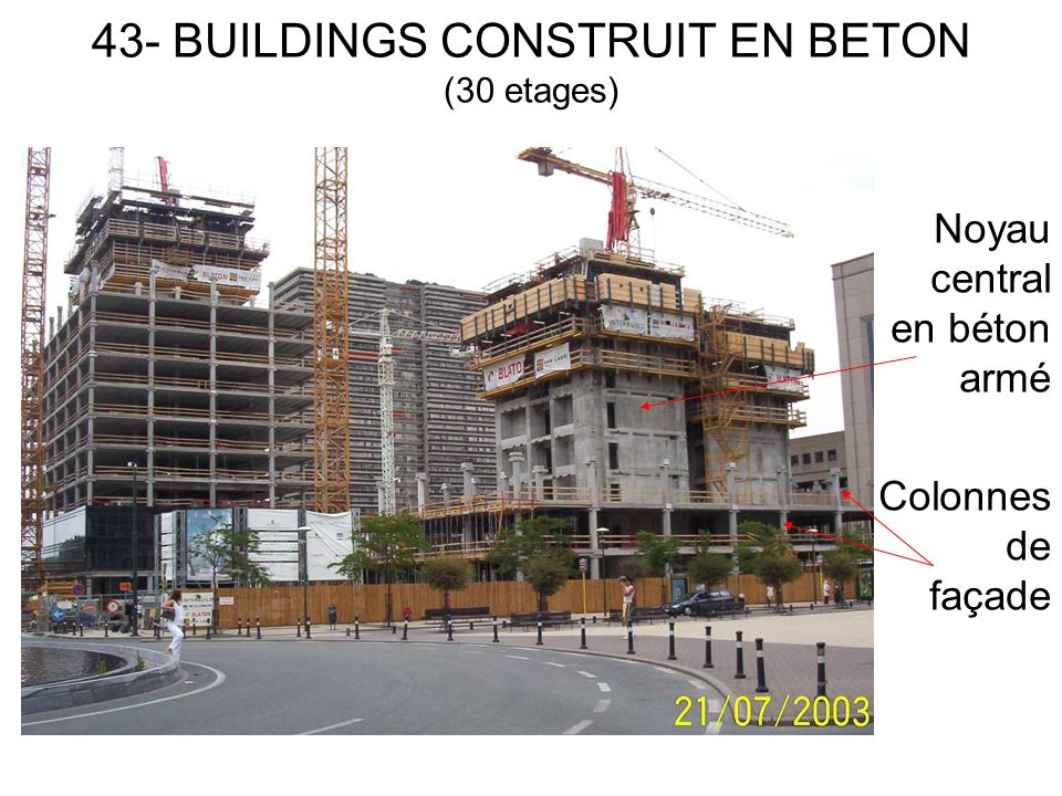 43- BUILDINGS CONSTRUIT EN BETON (30 etages)