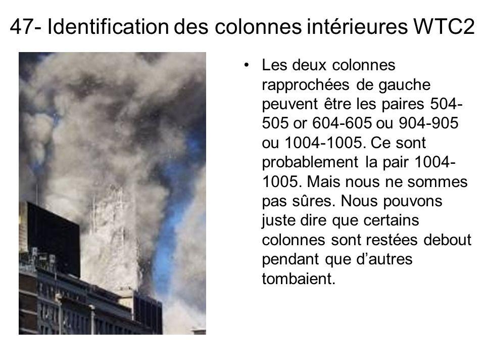47- Identification des colonnes intérieures WTC2