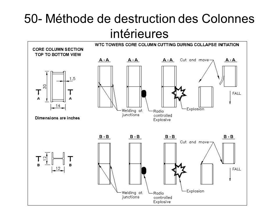50- Méthode de destruction des Colonnes intérieures