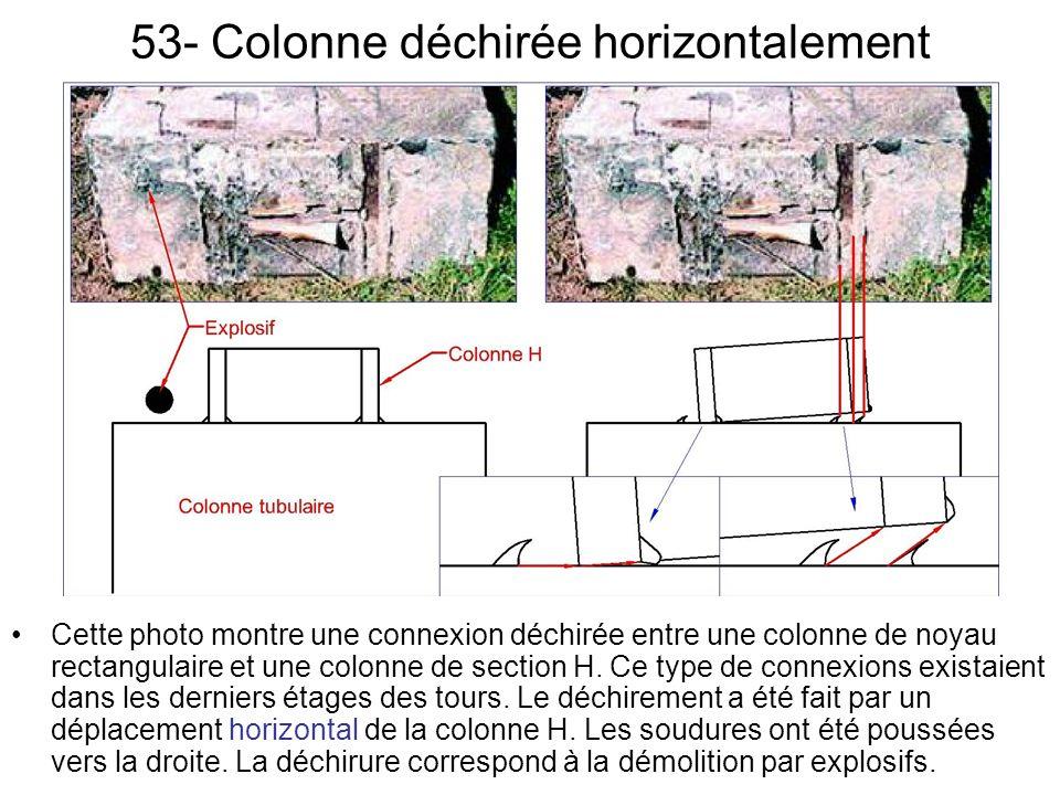 53- Colonne déchirée horizontalement
