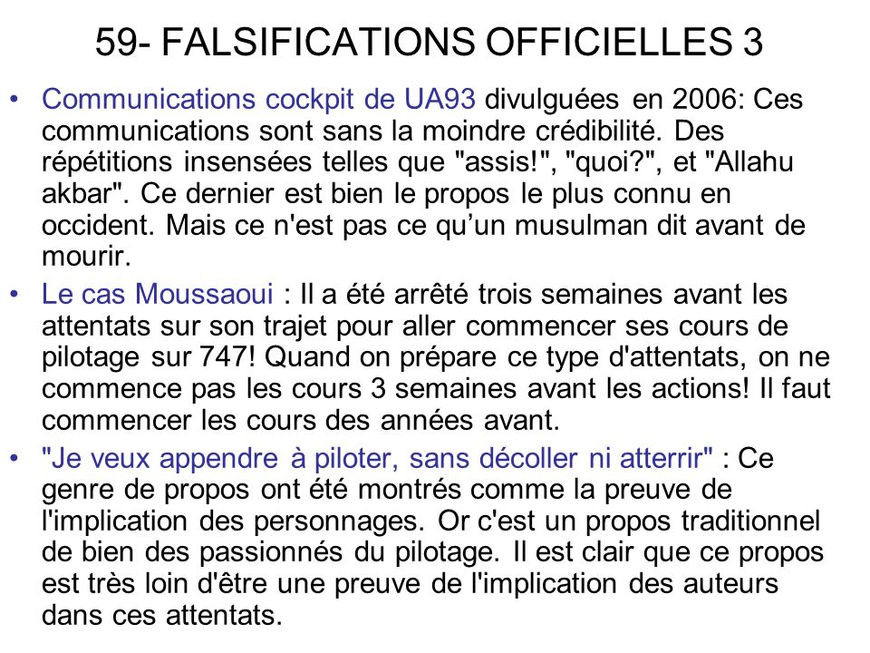 59- FALSIFICATIONS OFFICIELLES 3