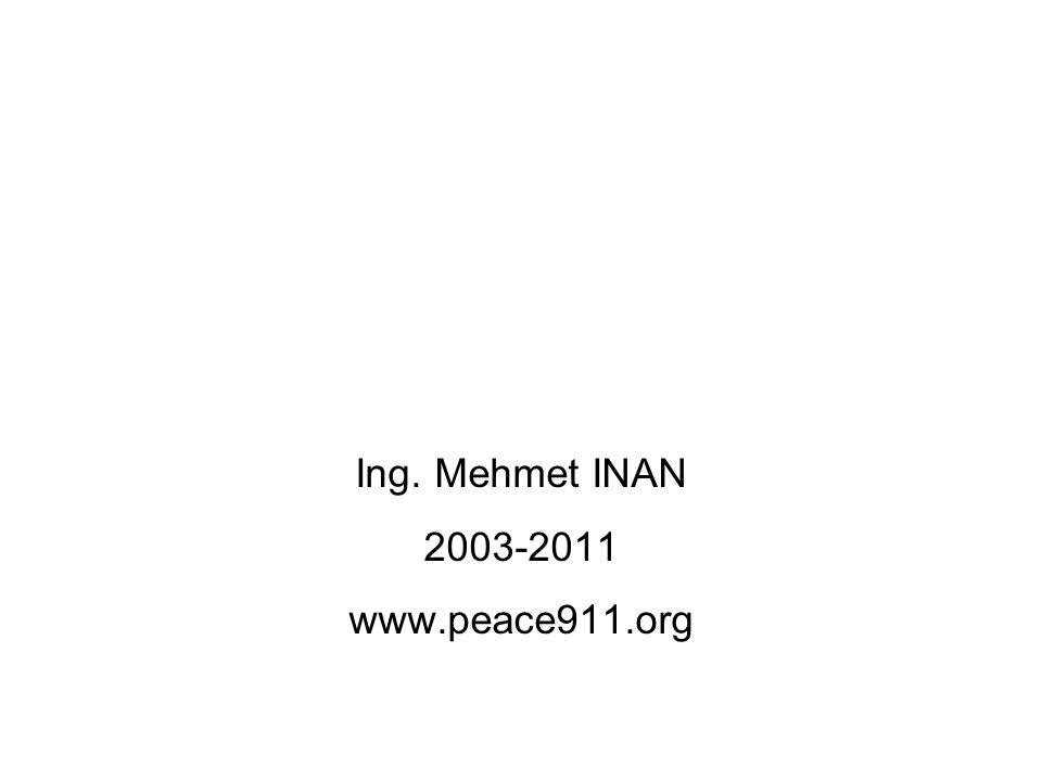 Ing. Mehmet INAN 2003-2011 www.peace911.org