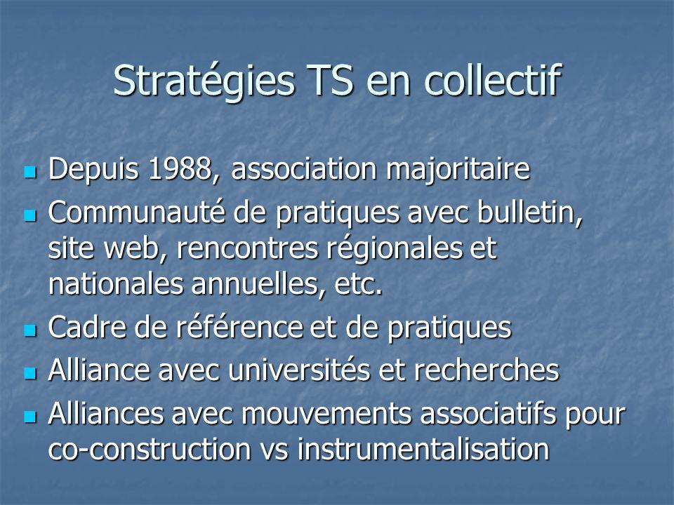Stratégies TS en collectif