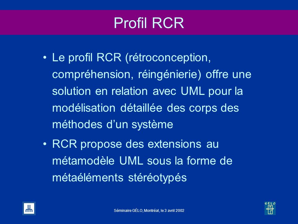 Profil RCR