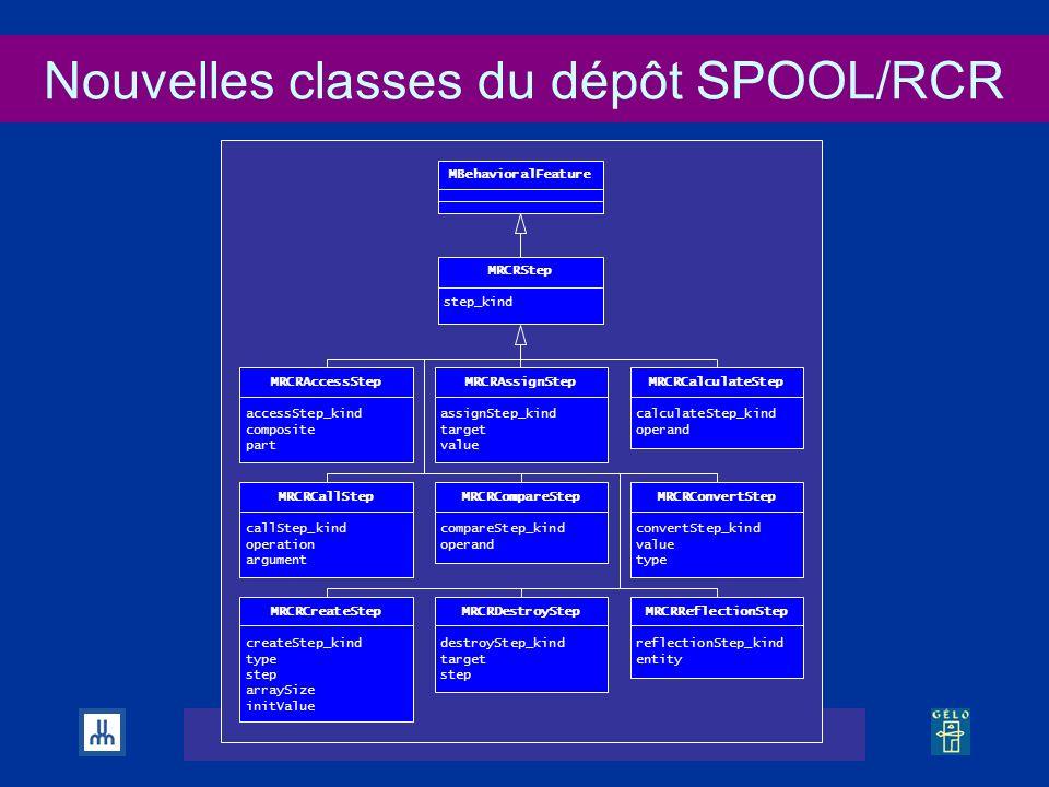 Nouvelles classes du dépôt SPOOL/RCR