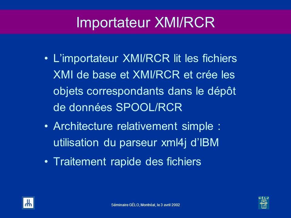 Importateur XMI/RCR