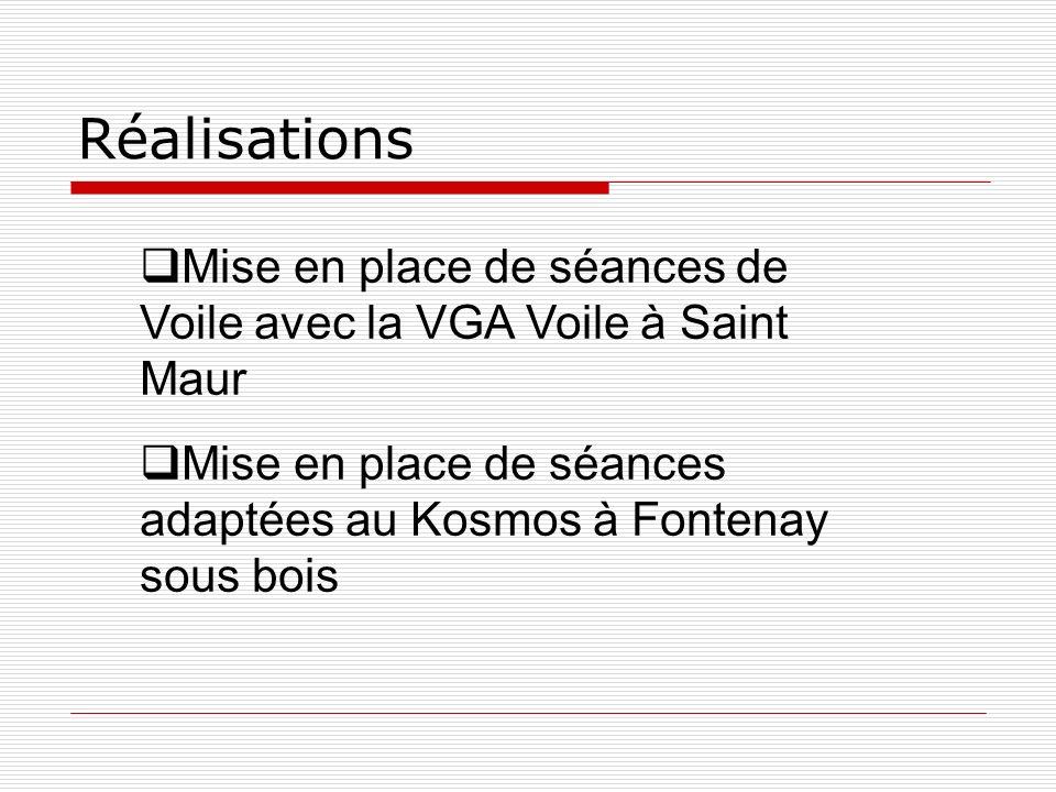 Réalisations Mise en place de séances de Voile avec la VGA Voile à Saint Maur.