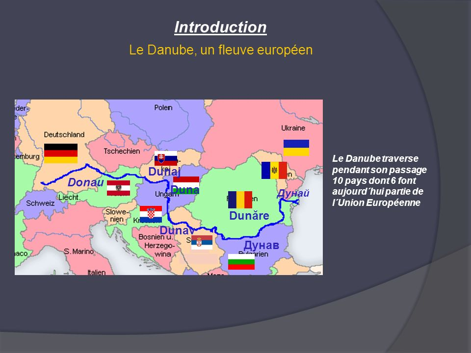 Introduction Le Danube, un fleuve européen Dunaj Donau Duna Dunăre