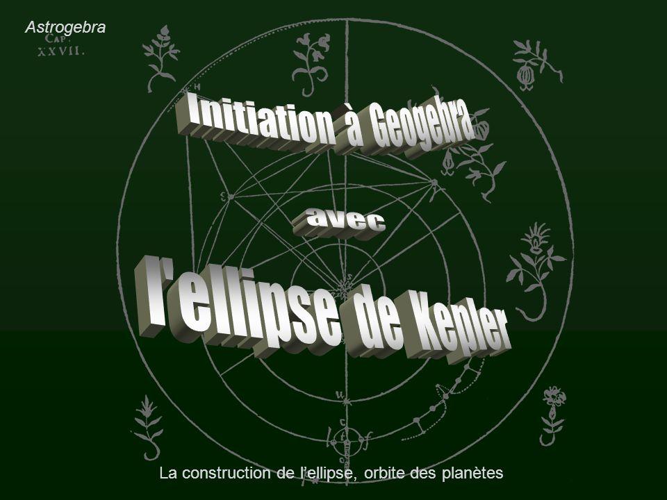 La construction de l'ellipse, orbite des planètes