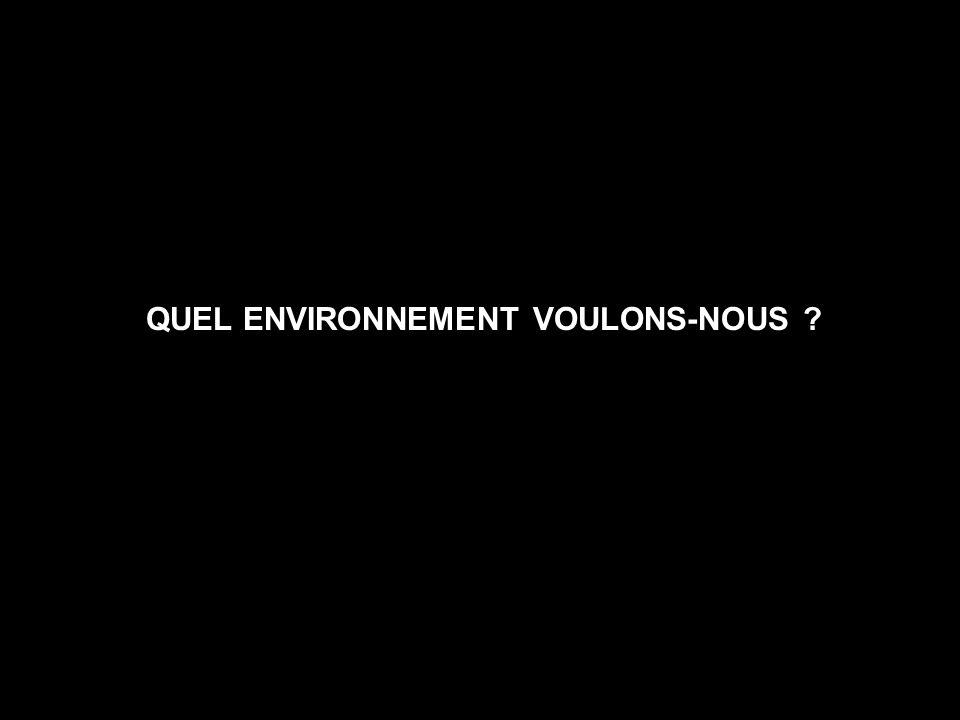 QUEL ENVIRONNEMENT VOULONS-NOUS