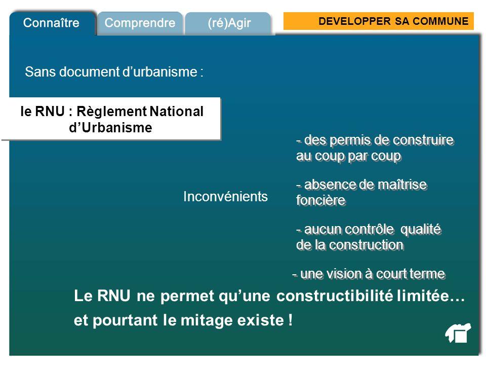 le RNU : Règlement National d'Urbanisme
