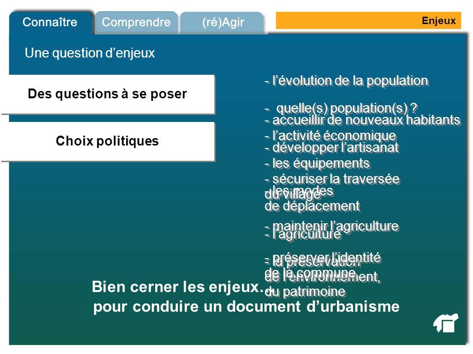 Bien cerner les enjeux… pour conduire un document d'urbanisme