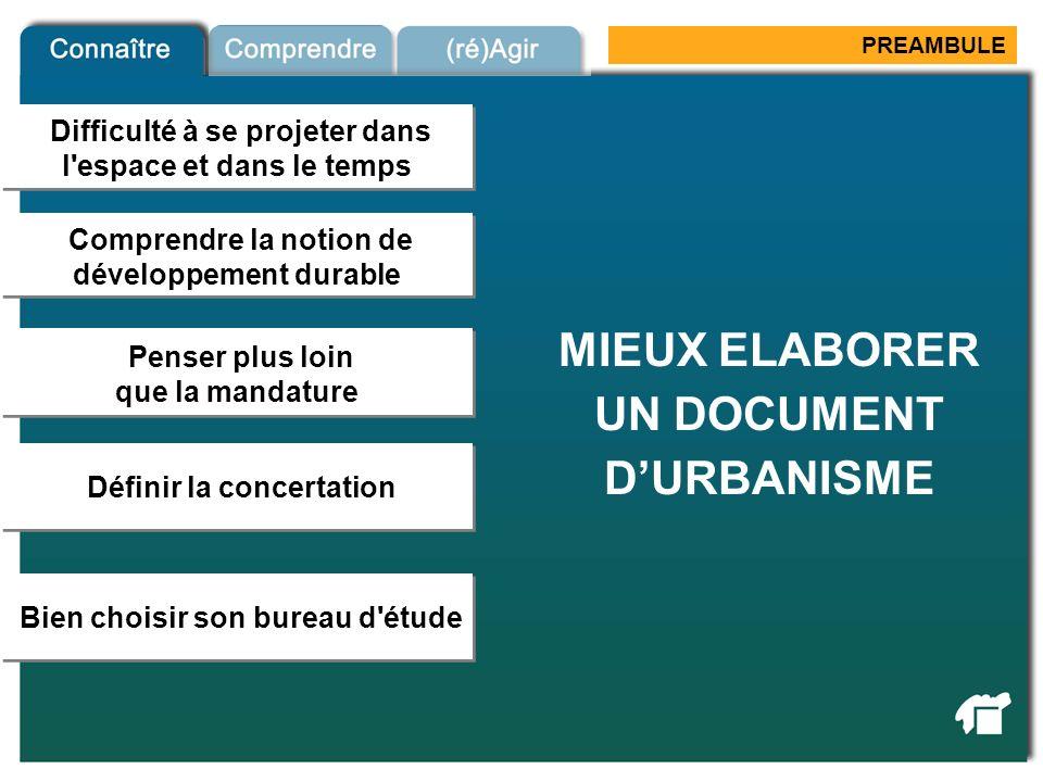 MIEUX ELABORER UN DOCUMENT D'URBANISME