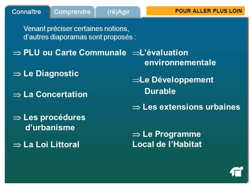  PLU ou Carte Communale L'évaluation environnementale