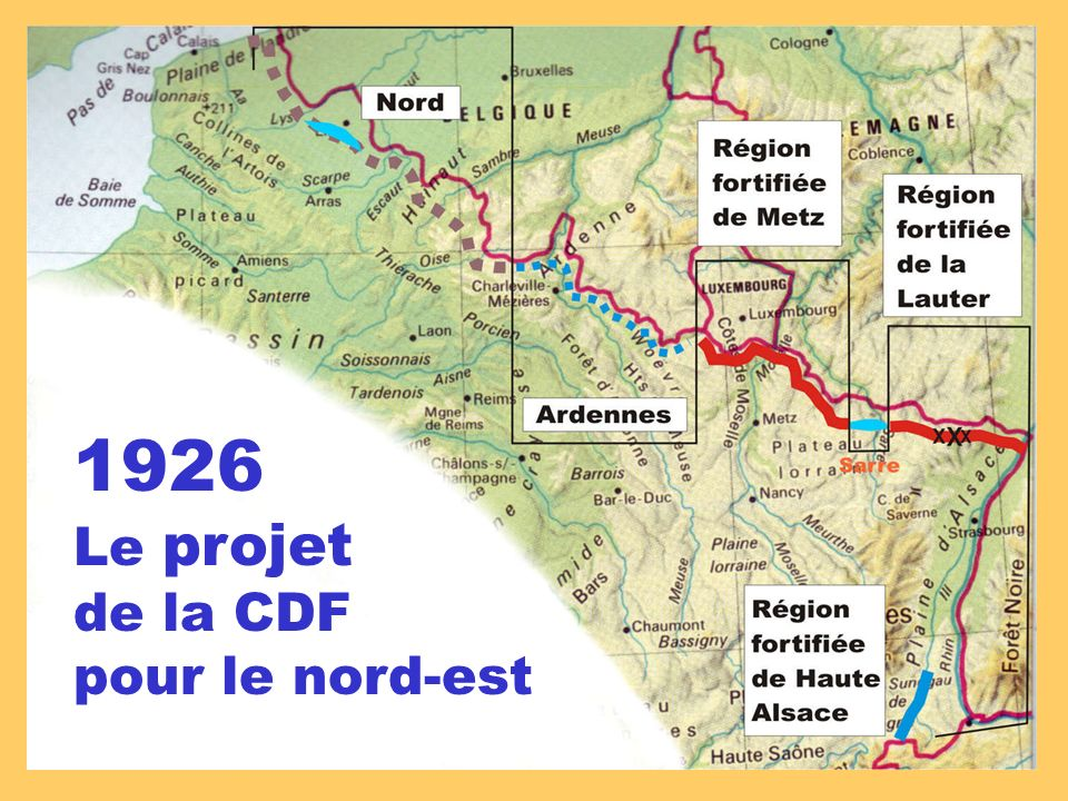 1926 Le projet de la CDF pour le nord-est
