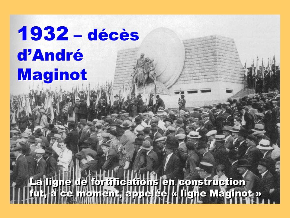 1932 – décès d'André Maginot