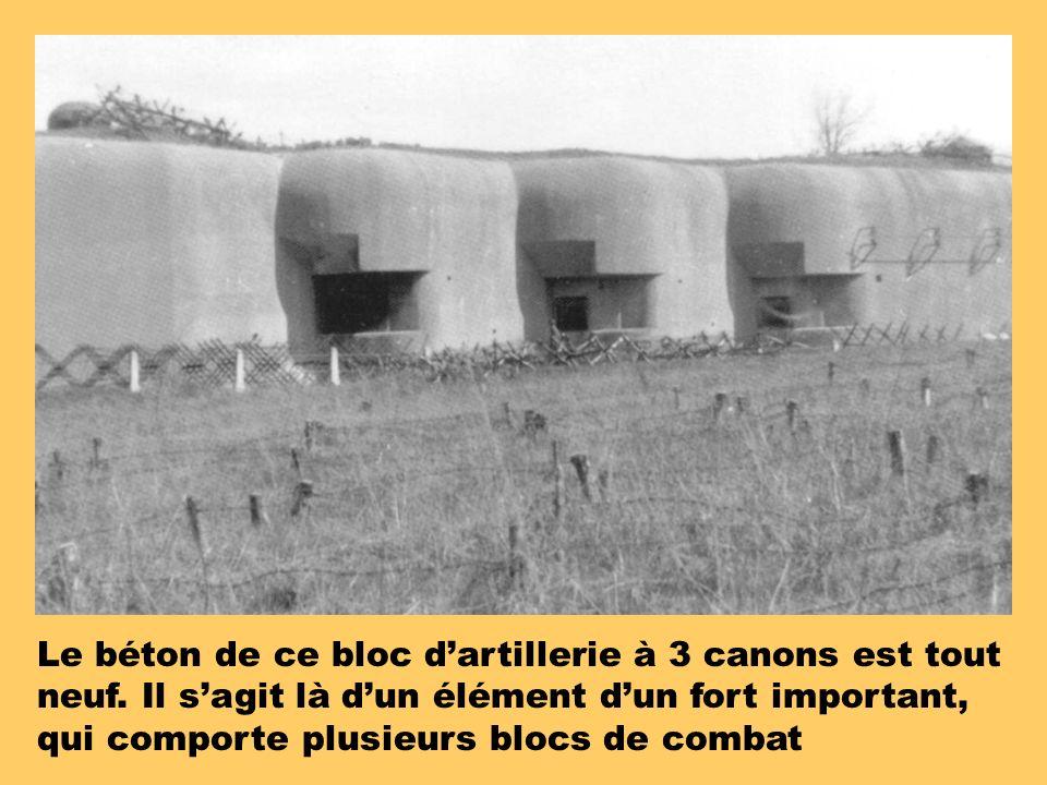 Le béton de ce bloc d'artillerie à 3 canons est tout neuf