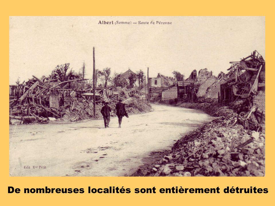 De nombreuses localités sont entièrement détruites