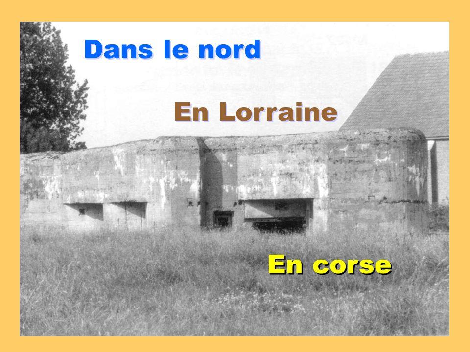 Dans le nord En Lorraine En corse