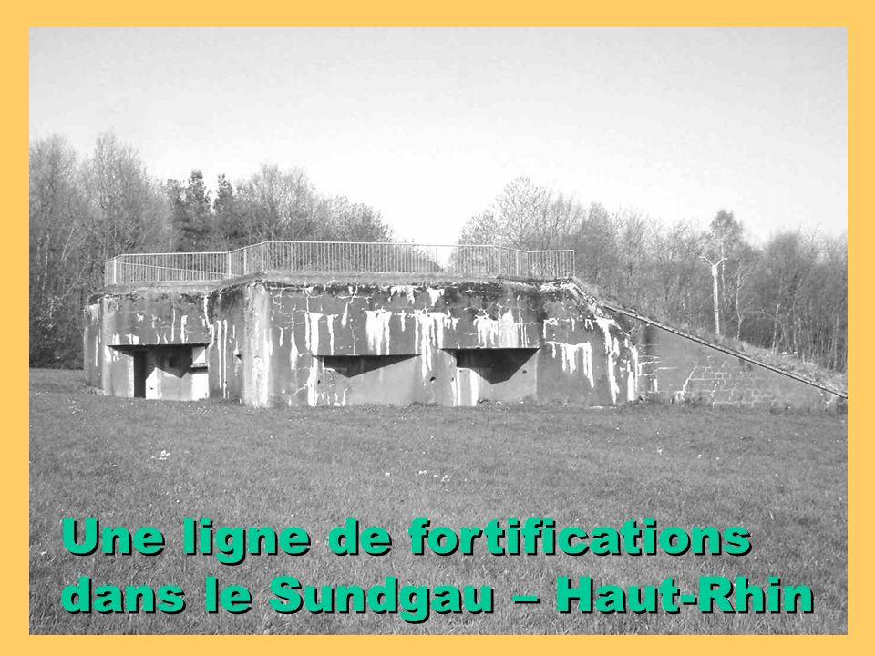 Une ligne de fortifications