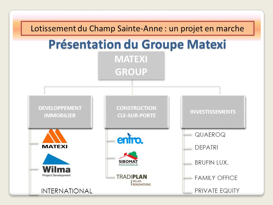 Présentation du Groupe Matexi