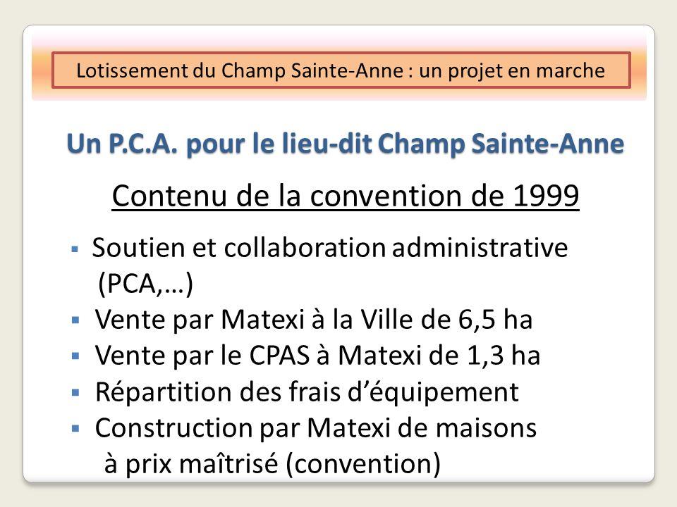 Un P.C.A. pour le lieu-dit Champ Sainte-Anne