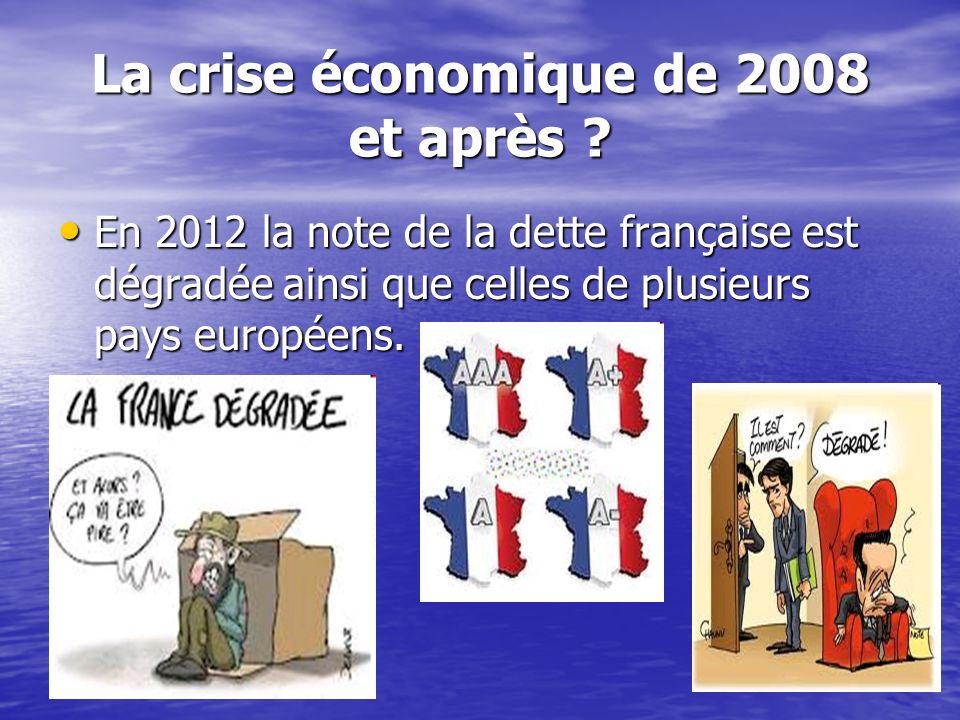 La crise économique de 2008 et après