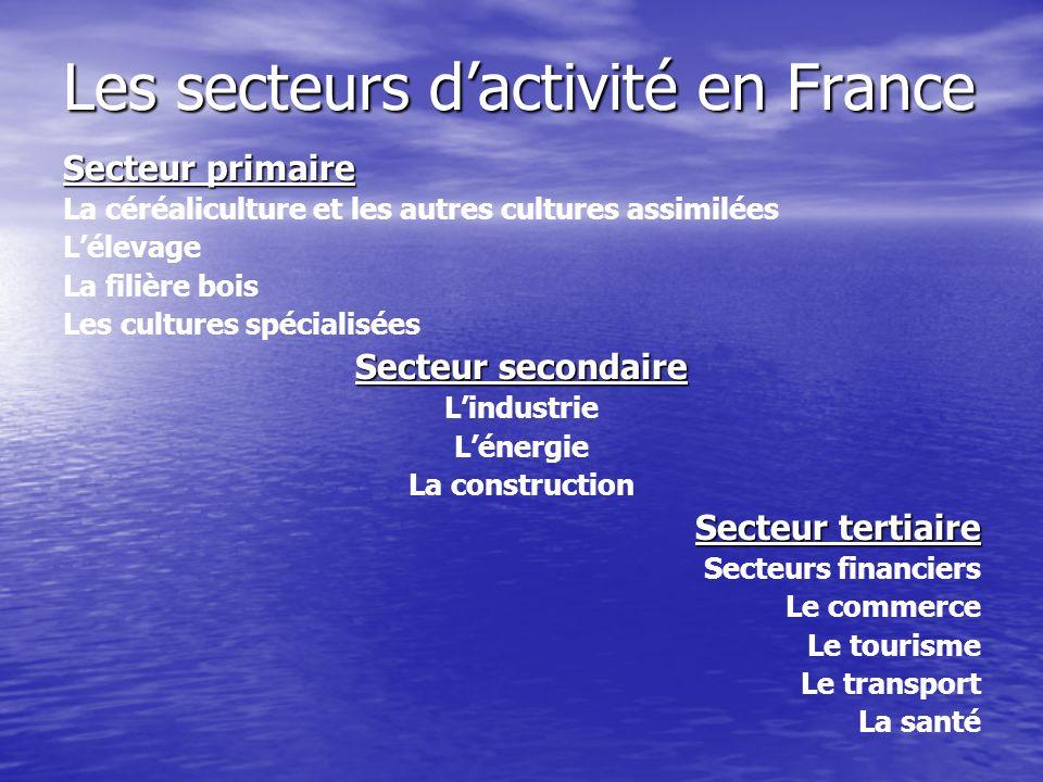 Les secteurs d'activité en France
