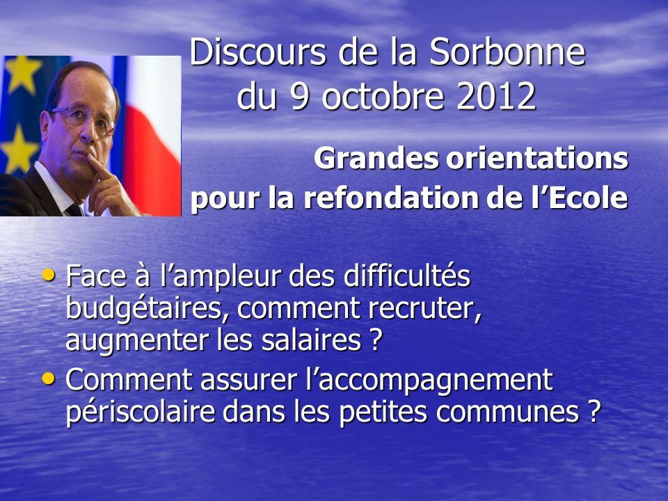 Discours de la Sorbonne du 9 octobre 2012