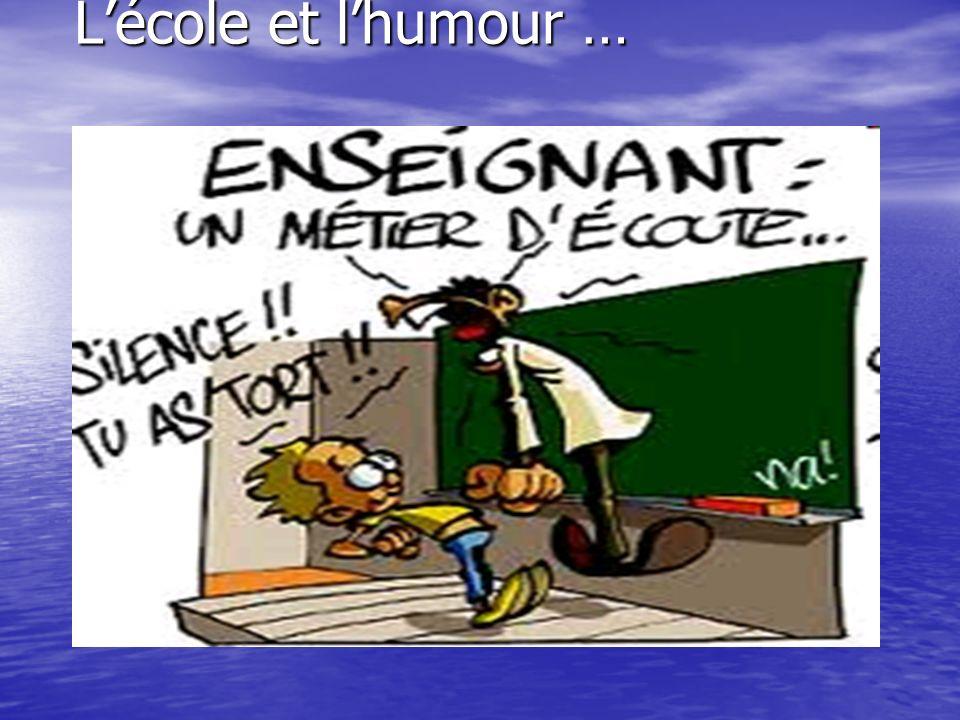 L'école et l'humour …
