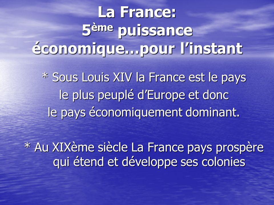 La France: 5ème puissance économique…pour l'instant