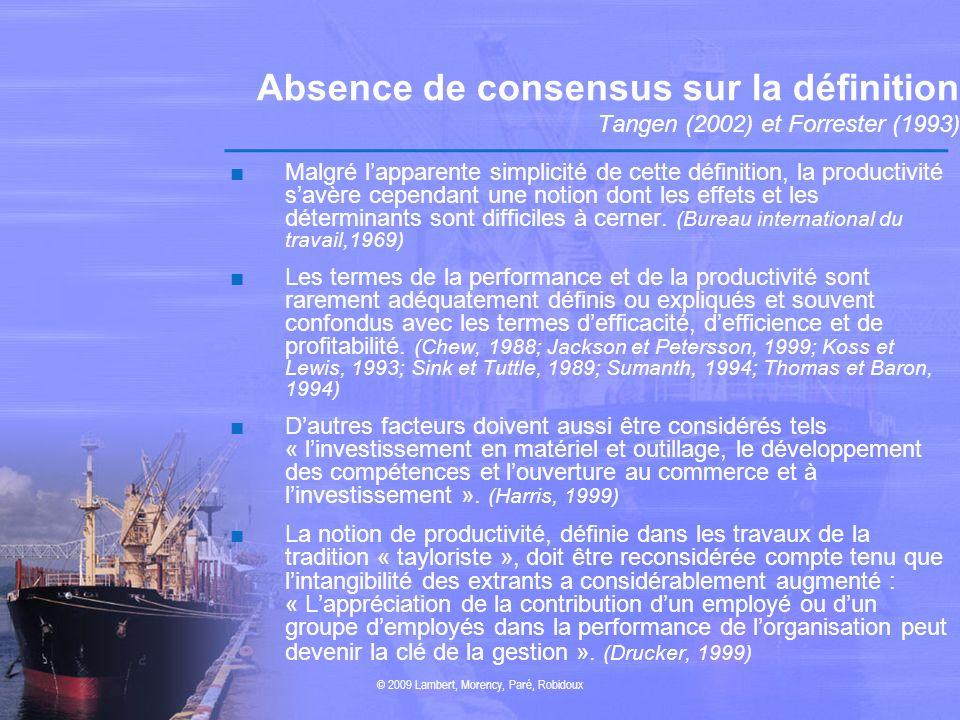 © 2009 Lambert, Morency, Paré, Robidoux