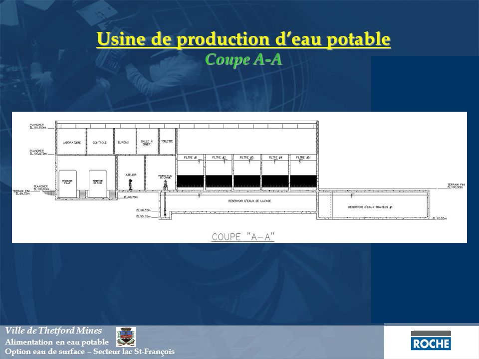 Usine de production d'eau potable