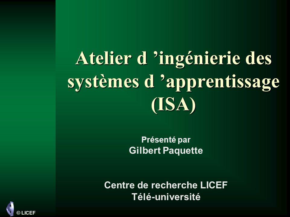 Atelier d 'ingénierie des systèmes d 'apprentissage (ISA)
