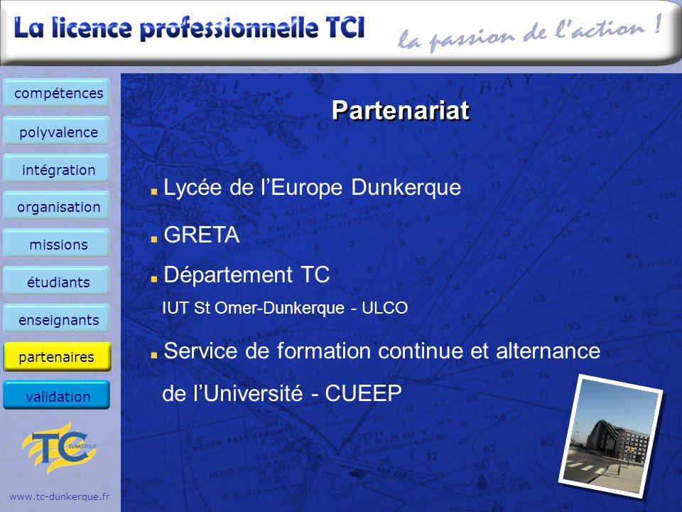 Partenariat Lycée de l'Europe Dunkerque GRETA