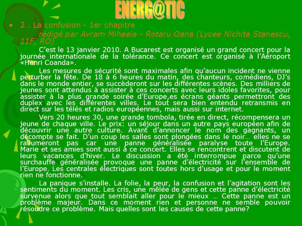 ENERG@TIC 2 . La confusion - 1er chapitre