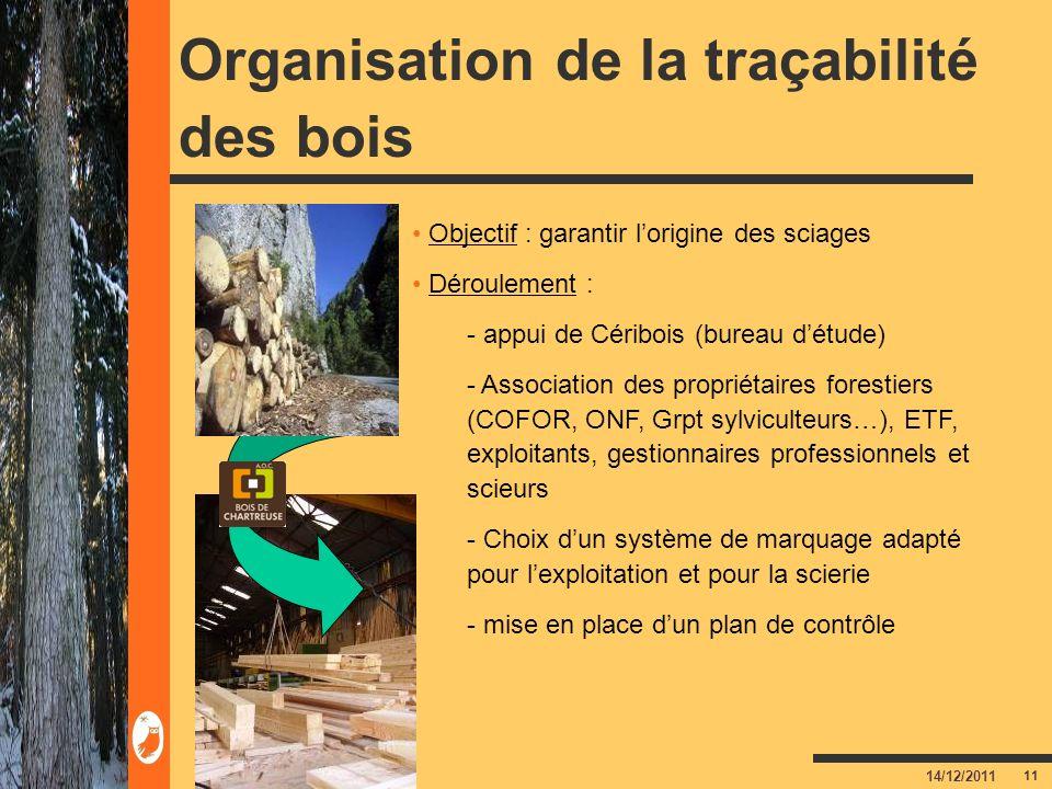 Organisation de la traçabilité des bois