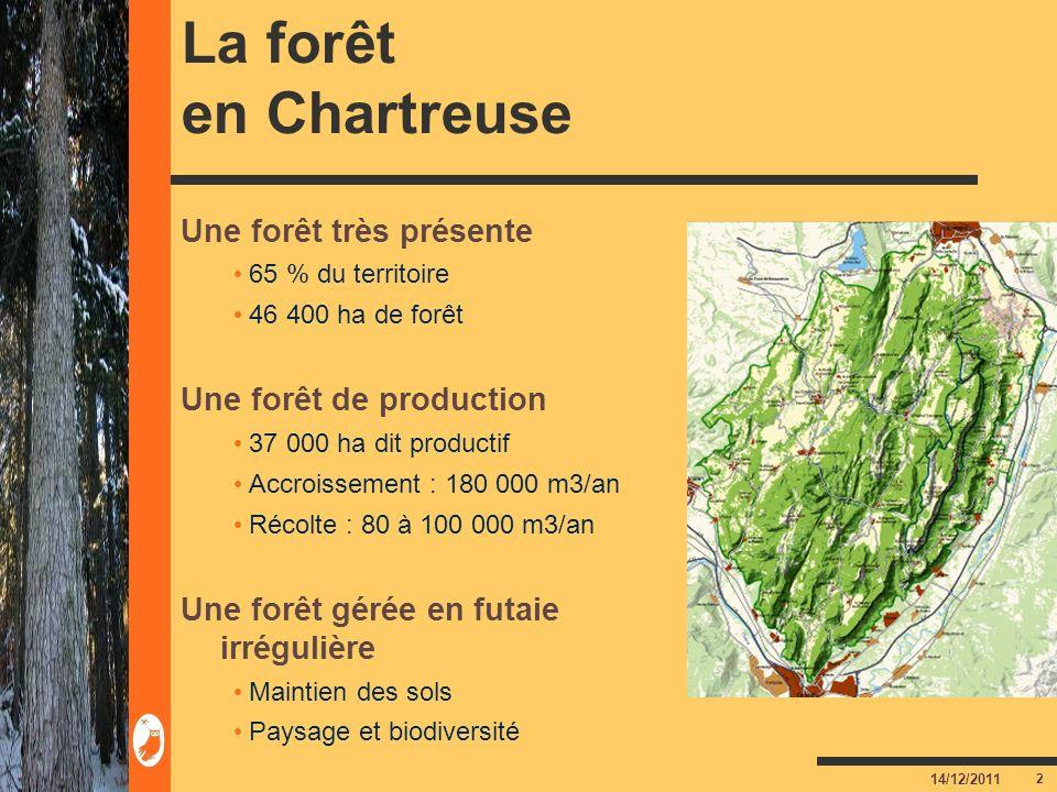 La forêt en Chartreuse Une forêt très présente Une forêt de production