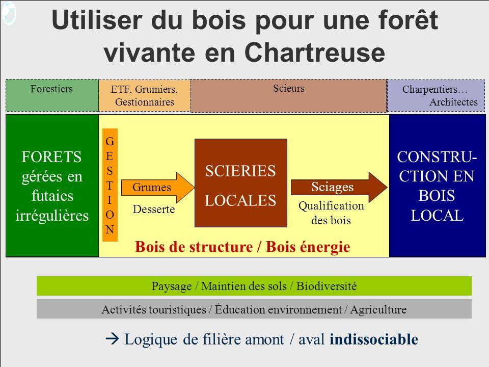 Utiliser du bois pour une forêt vivante en Chartreuse