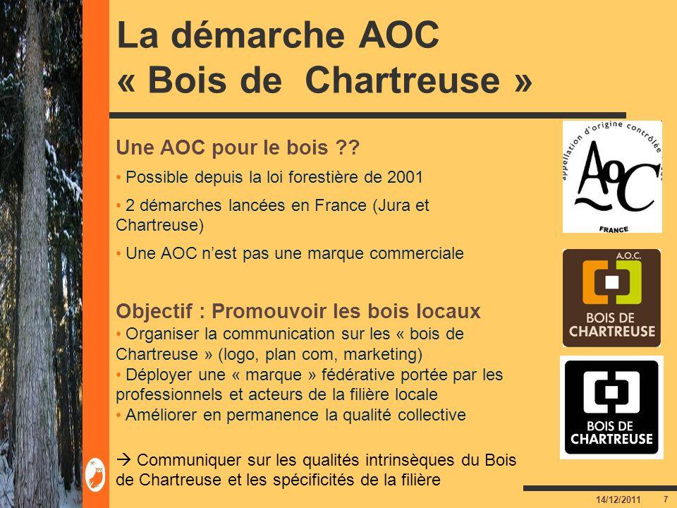 La démarche AOC « Bois de Chartreuse »