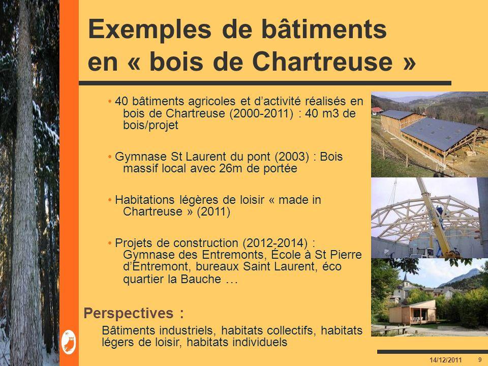 Exemples de bâtiments en « bois de Chartreuse »