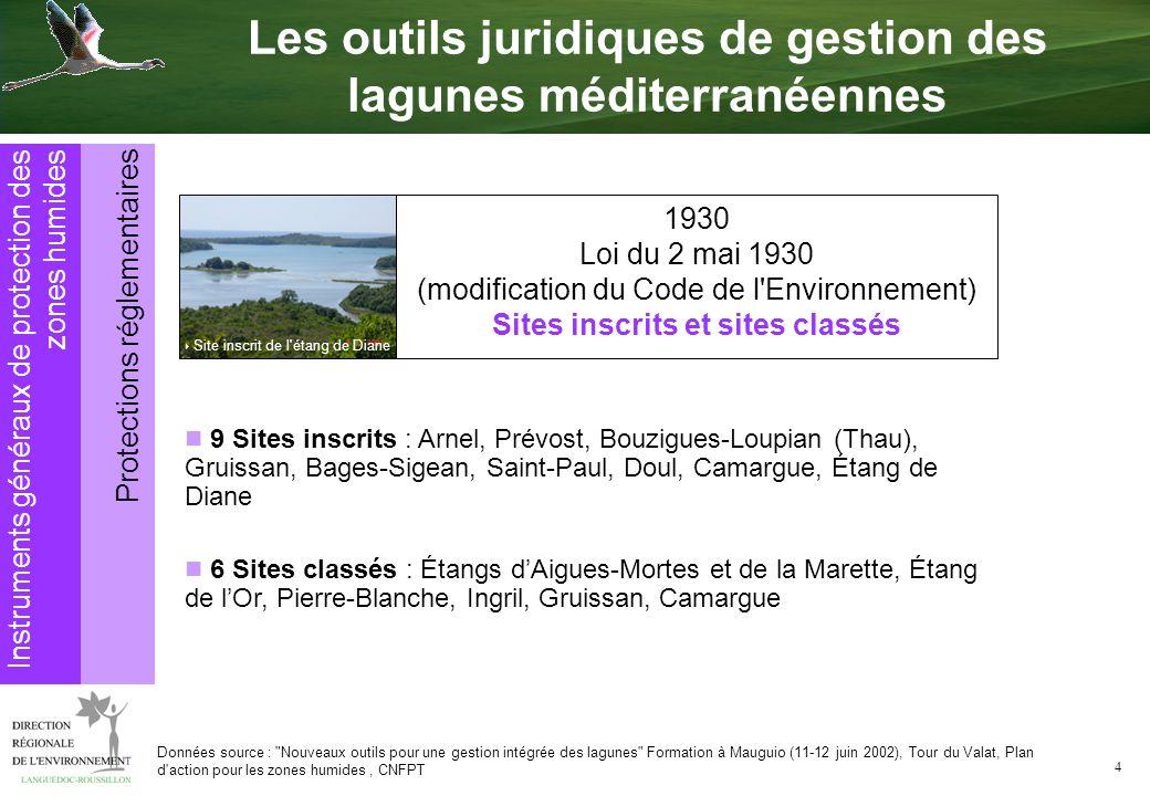 Les outils juridiques de gestion des lagunes méditerranéennes