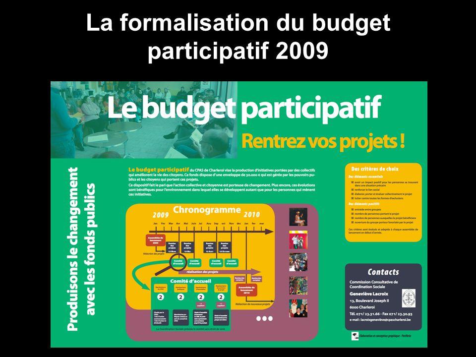 La formalisation du budget participatif 2009