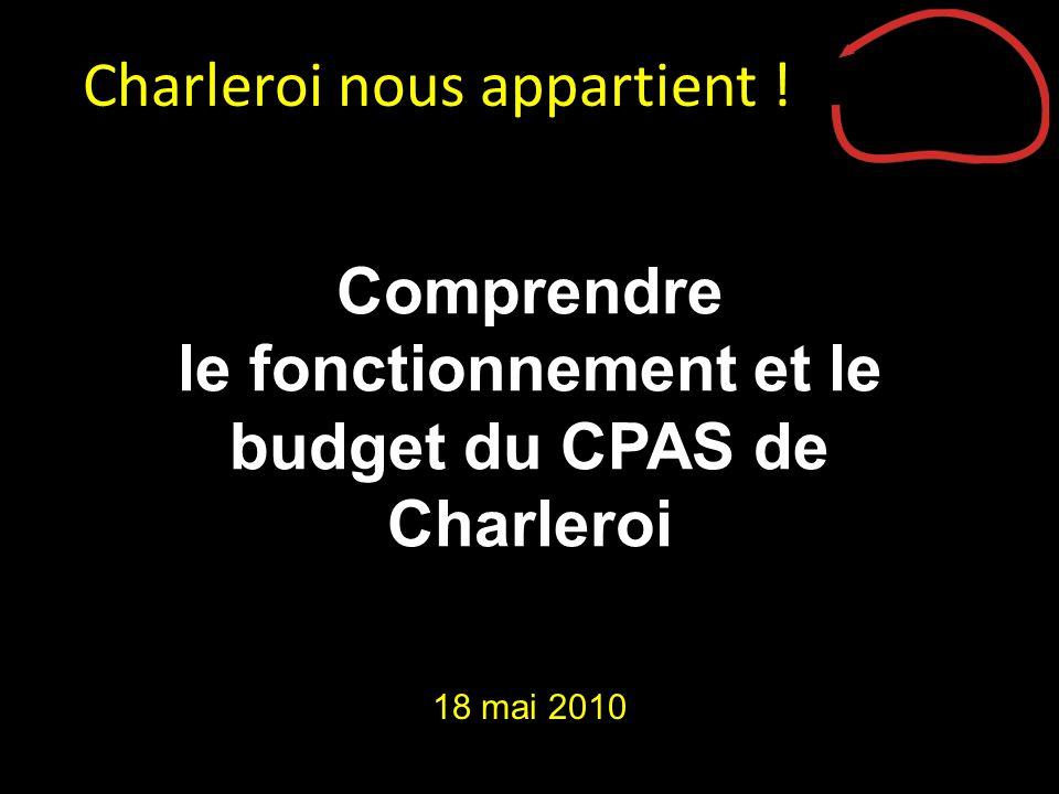 Comprendre le fonctionnement et le budget du CPAS de Charleroi