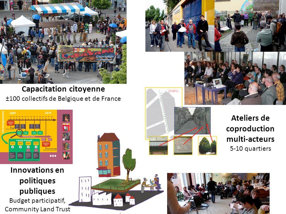 Capacitation citoyenne ±100 collectifs de Belgique et de France