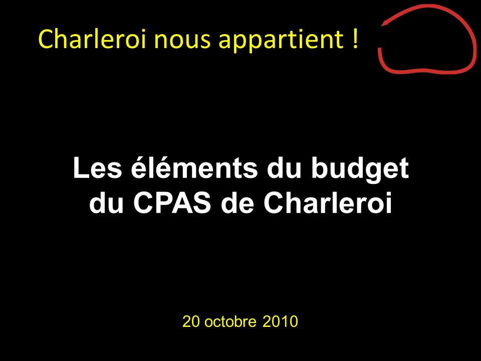 Les éléments du budget du CPAS de Charleroi